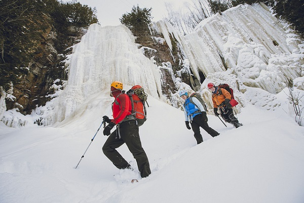 Ice Climbing at Orient Bay
